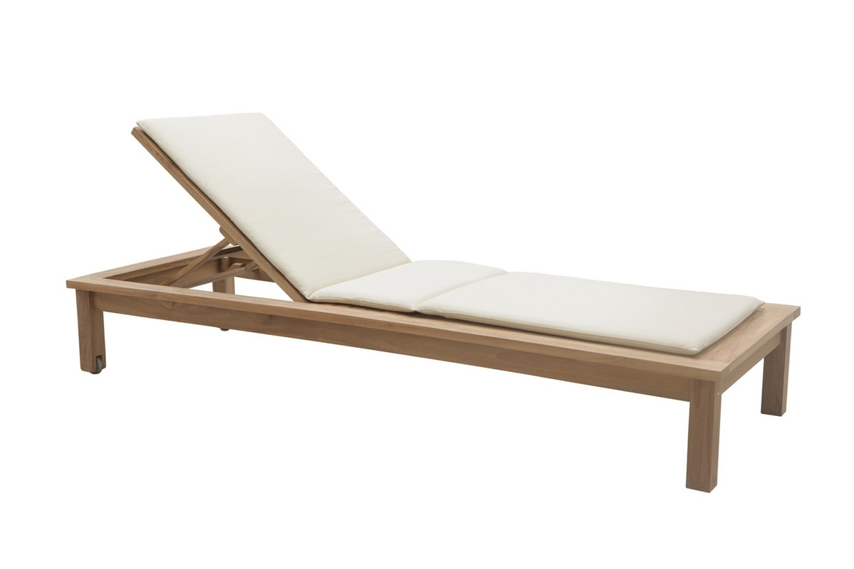 Saint Raphael 0516, Sunlounger with double back and wheels