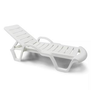 Set of 18 Professionals Plastic Sun Loungers for Pools and Resorts RE100PLA18PZBI, Plastic pool loungers