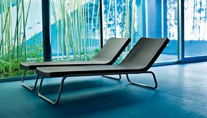 Time Out chaise lungue, Sunlounger for spa and swimming pool, fixed or recliner