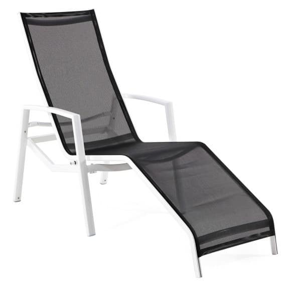 Victor relax lounger, Aluminum cot, synthetic mesh seat