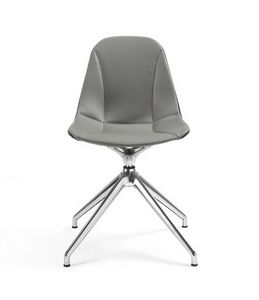 Couture swivel chair 10.0502, Swivel chair with leather shell