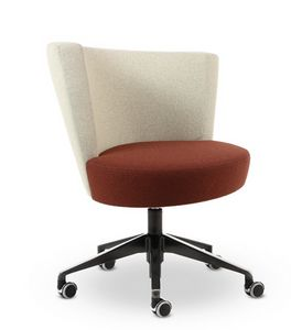 ELIPSE 12, Armchair with wheels for office