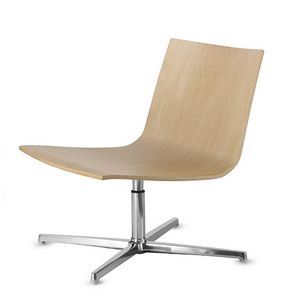 EXEN 242, Swivel chair with wooden seat