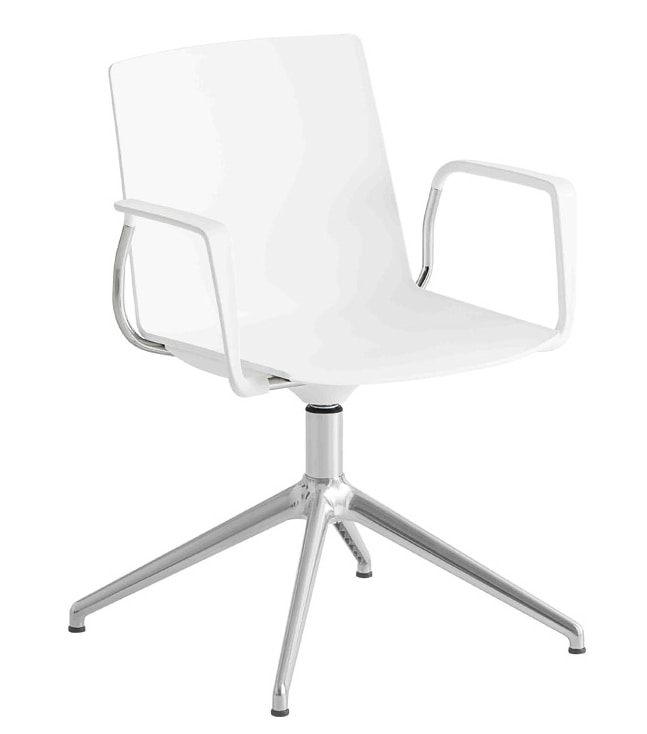 Jubel L, Swivel chair with spokes base