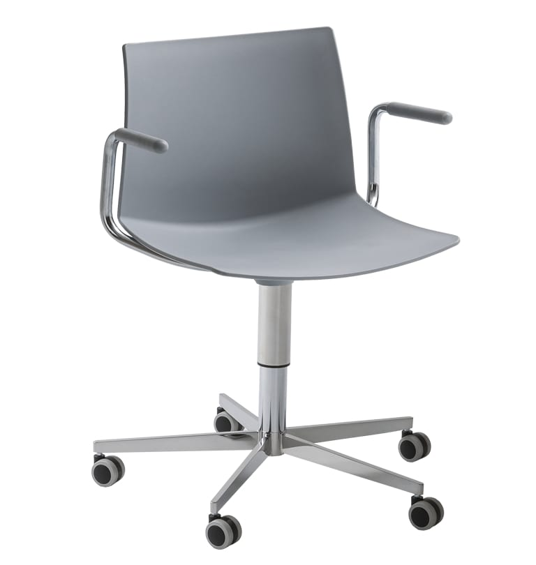 Kanvas 2 5R BR, Swivel chair with armrests