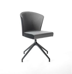 Kont� pyramid base, Comfortable padded chair with swivel base
