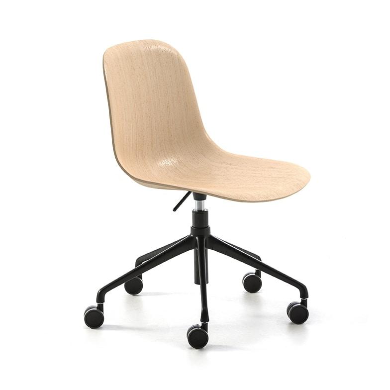 Máni Wood HO, Swivel wooden chair
