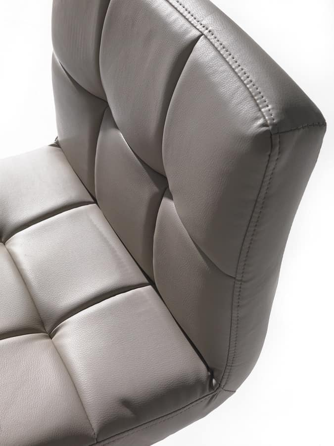 Art. 574 Jazz, Height-adjustable stool, seat in imitation leather