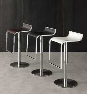 Art. 576 Mizar, Adjustable stool, clean design, with integrated footrest