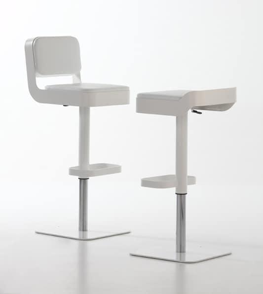 Belt plus, Swivel stool, comfortable padded seat, adjustable height