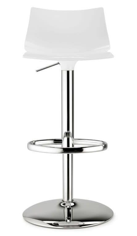 Day up, Swivel stool with height-adjustable, gas lift