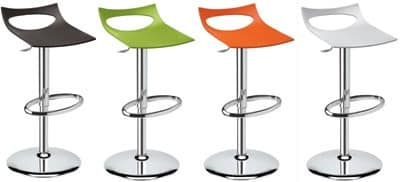 Diavoletto stool, Swivel stool, height adjustable with gas lift