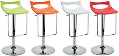 Diavoletto u stool, Swivel barstool, height-adjustable, gas lift