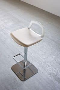 Pop, Design barstool, metal base, back-handle
