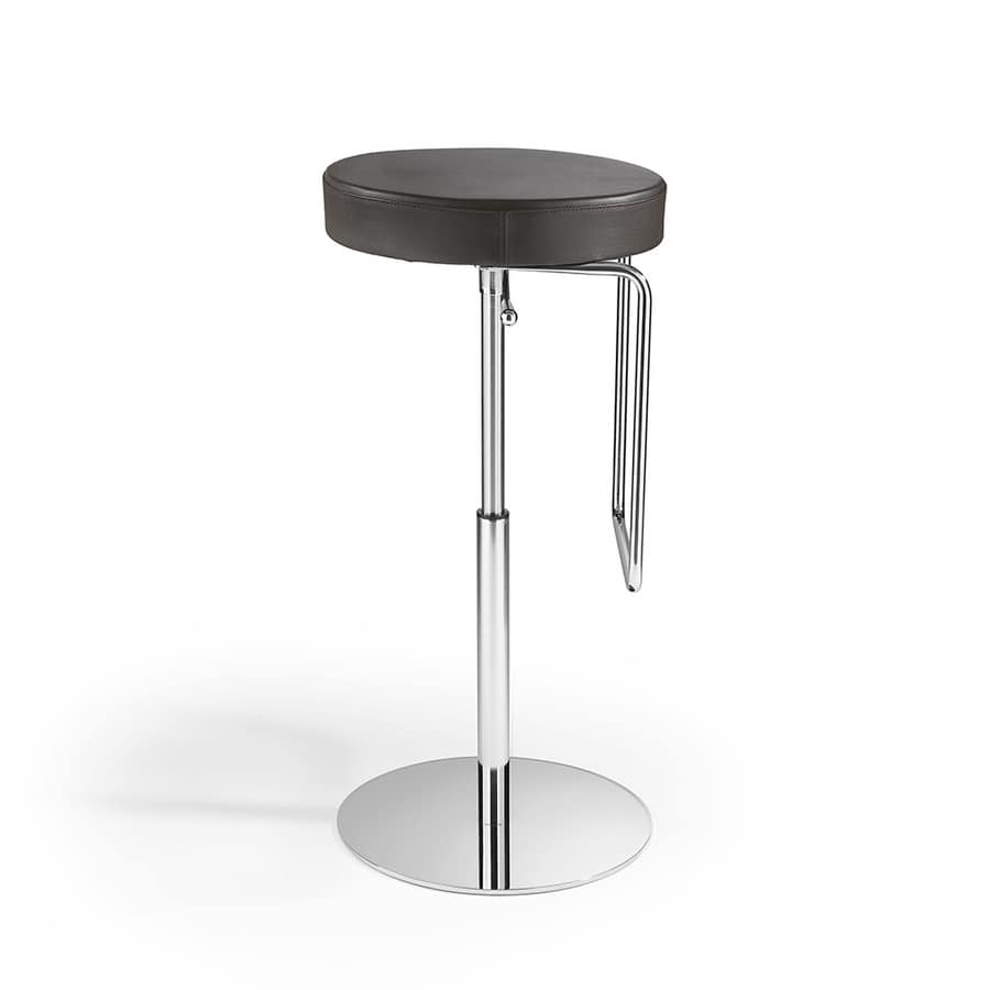Tuck SG, Stool with round seat, adjustable in height