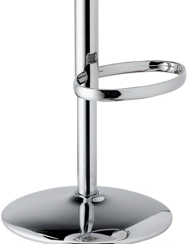 Zebra Up, Swivel stool adjustable in height, made of polycarbonate