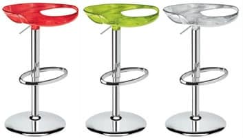 Zoe stool, Swivel and adjustable stool, several colours