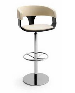 CG 83911 SG, Swivel stool, with round metal base