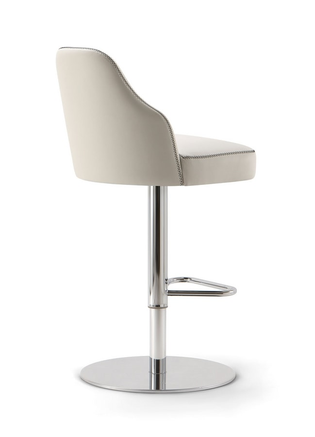 CHICAGO BAR STOOL 015 SG F, Stool with disc base
