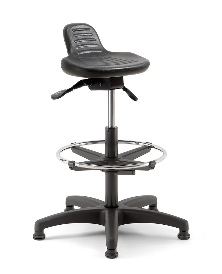 Confort 03, Stool with ring footrest