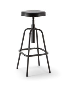 Duke 05, Stool with padded swivel seat