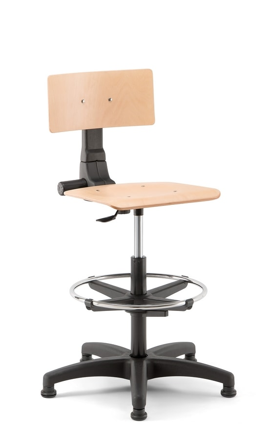 Rumba 03, Swivel office stool