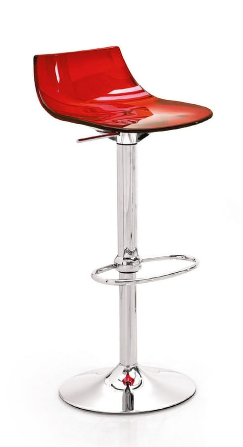 SG 343, Swivel stool with seat in transparent plastic