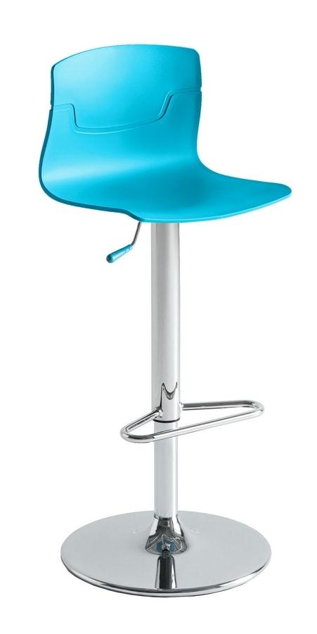 Slot Fill AV, Height-adjustable stool