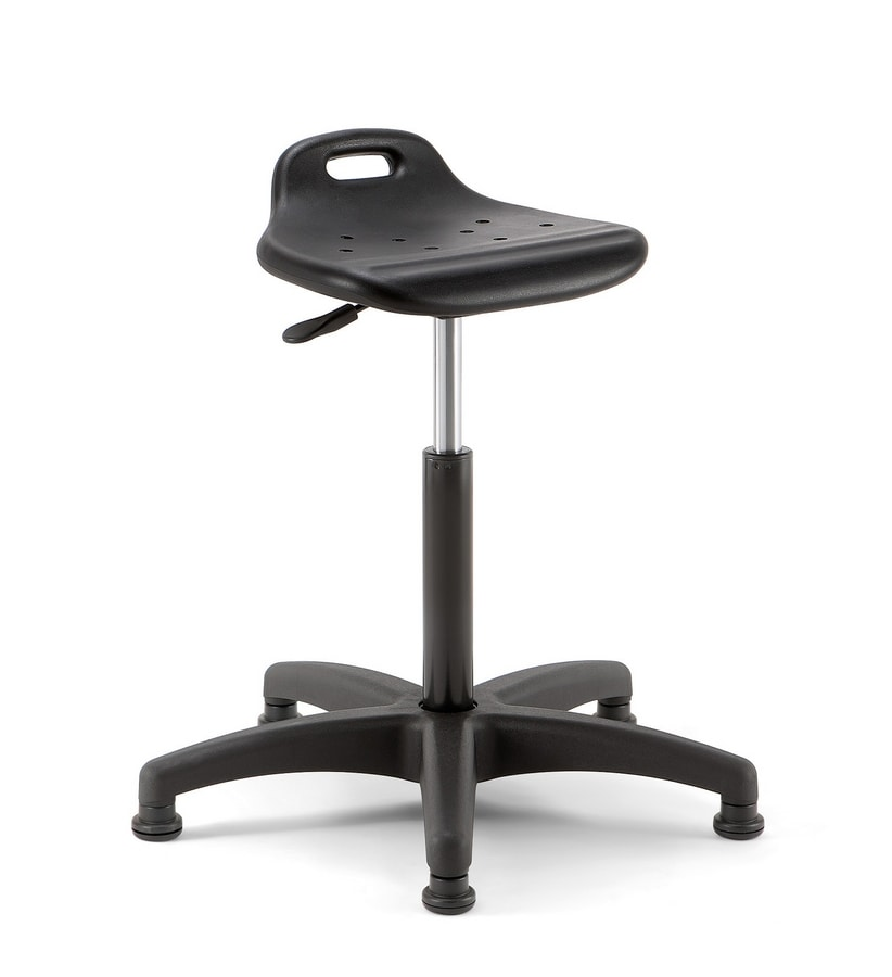 Smile 02, Stool with adjustable seat