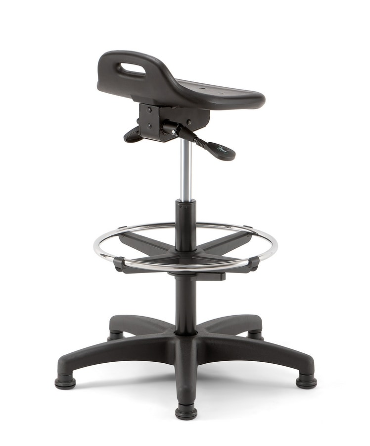 Smile 03, Swivel and height-adjustable stool