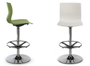 WEBBY 346H, Swivel stool with footrest