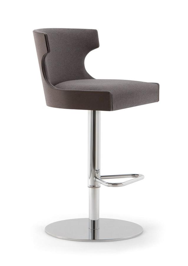 XIE BAR STOOL 053 SG F, Swivel stool with round base