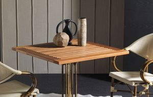 Art. 1100-TE Teak, Solid teak wood table top