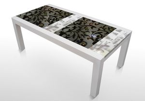 Colorado Inc114, Table with lava stone top