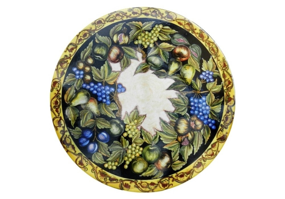 Natura Frutta Caravaggio, Table inspired by Caravaggio's paintings