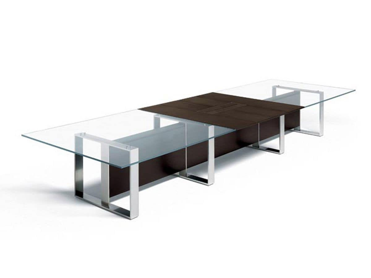 Glass Meeting Room Table