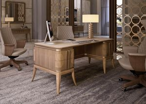 Art. 5500, Canaletto walnut wood writing desk