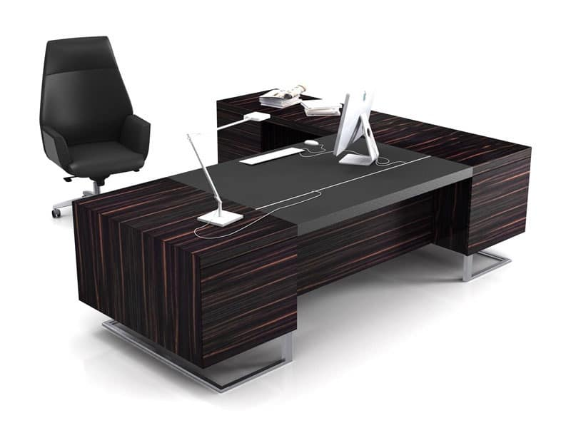 Deck Leader Executive Desk Large Wood And Metal Ideal For Office