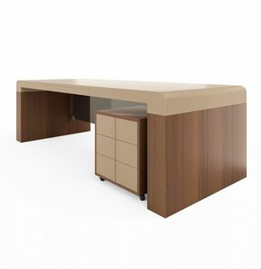 Fusion desk 220.S24F, Desk with leather top, for presidential office