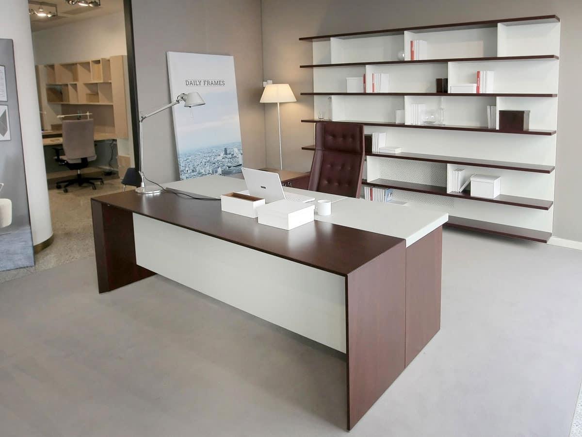 San Marco Executive Desk, Elegant Executive Office Desk, Minimal Lines  Office Furniture