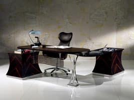 SC19 Cartesio desk, Executive desk in ebony, for Office
