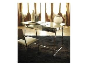 a104 clever, Metal desk with two glass top