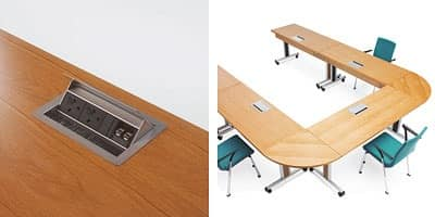 Configure-8 Flip Top, Folding table on wheels for conference rooms