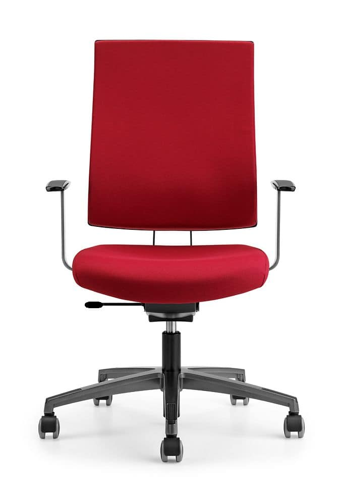ALLY 1720, Padded chair for operations office, with adjustable armrests