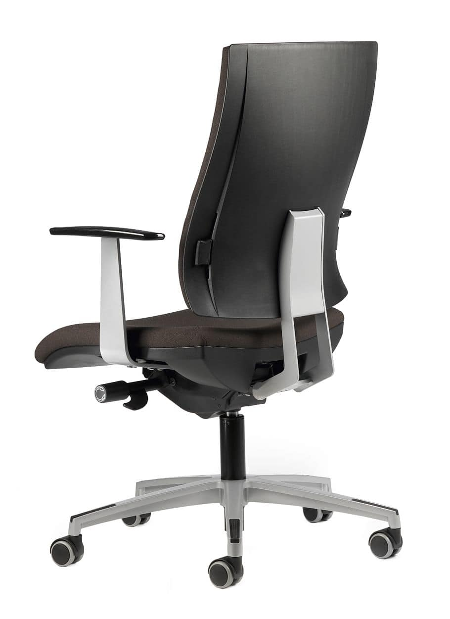 ALLY 1727 + OPT, Task chair with wheels, padded, for office