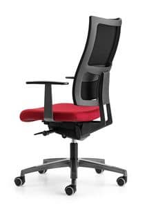 ALLYNET 1767, Chair with padded seat, with armrests, for office