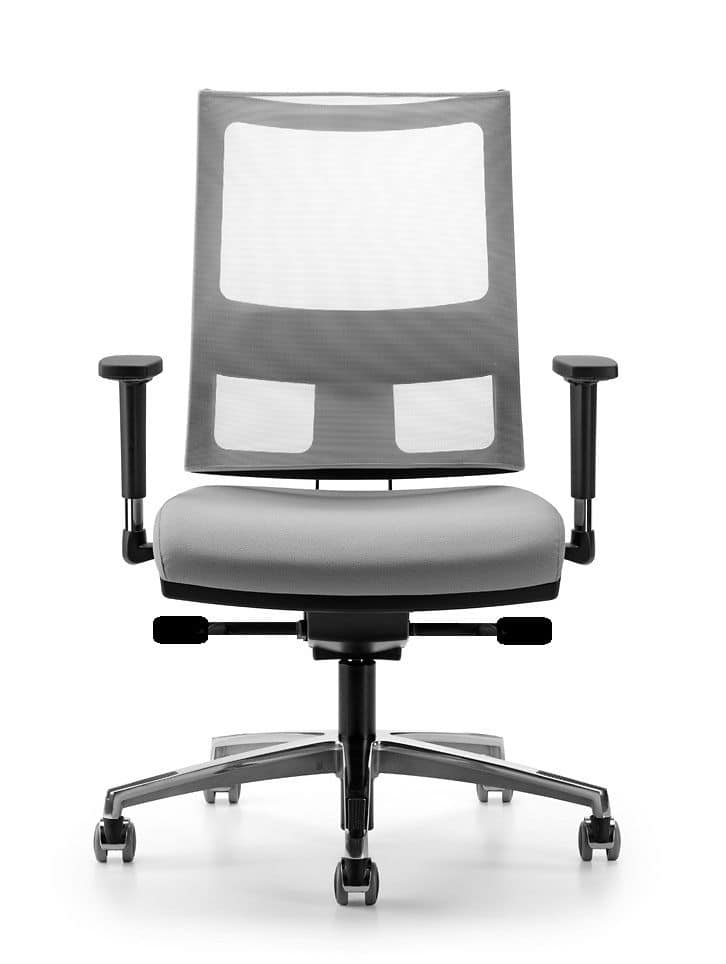 ALLYNET 1777, Chair with back in elastic mesh, for office