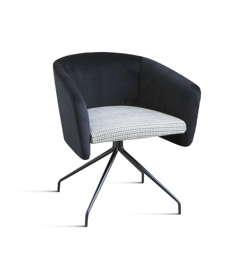 ART. 0055 BALÙ Office, Office swivel chair, with metal frame, in different colors