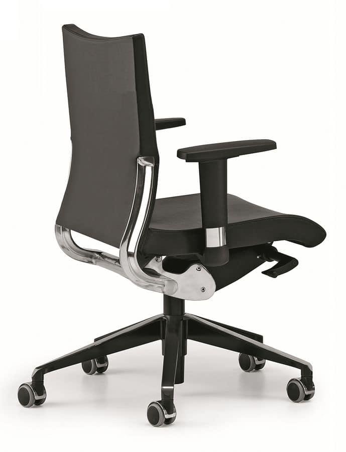AVIA 4006, Operational office chair, aluminum backrest support