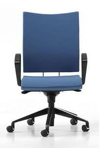 AVIAMID 3414, Padded chair with armrests, for offices and studios